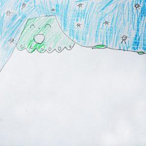まほうをかけると どうなる?:ふゆの あいだだけ、あさま山の 雪が とけなくなる。
