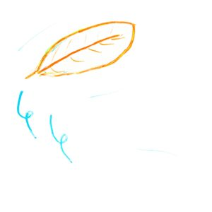 まほうの ざいりょう:くるくる(川の ちかくで みつけた、風で とぶ 木の葉。)