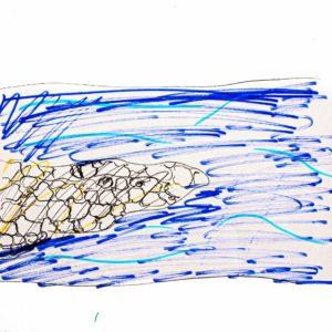 まほうで たすけたい、こまっているもの:川の 水。川の 石たちが、じゃまをして、スムーズに、ながれられない。