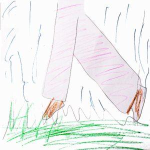 まほうで たすけたい、こまっているもの:じぶんの 家の にわで みつけた、草。「みんなに ふんづけられたり、雨に ぬれて とっても いや。」